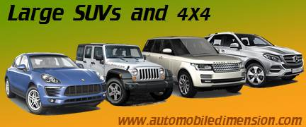 Large SUV and 4x4 cars