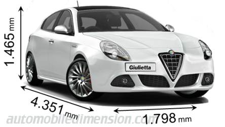 dimensions of alfa romeo cars showing length width and height. Black Bedroom Furniture Sets. Home Design Ideas