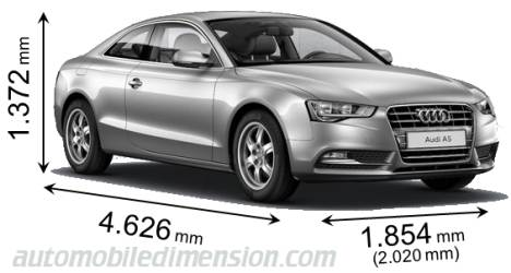 dimensions of audi cars showing length width and height. Black Bedroom Furniture Sets. Home Design Ideas