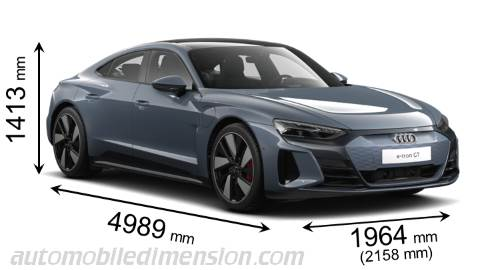 Audi e-tron GT measures in mm