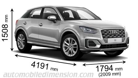 audi q2 2016 dimensions boot space and interior. Black Bedroom Furniture Sets. Home Design Ideas