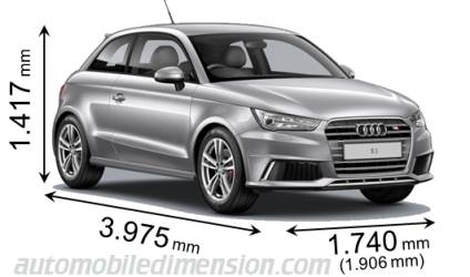 audi a1 sportback 2015 dimensions boot space and interior. Black Bedroom Furniture Sets. Home Design Ideas