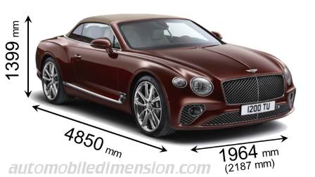 Bentley Continental Gt Convertible 2019 Dimensions Boot