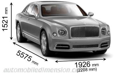 Bentley Mulsanne dimensions