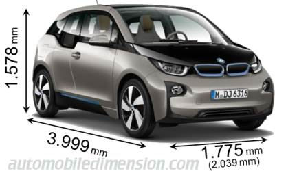 BMW i3 measures in mm