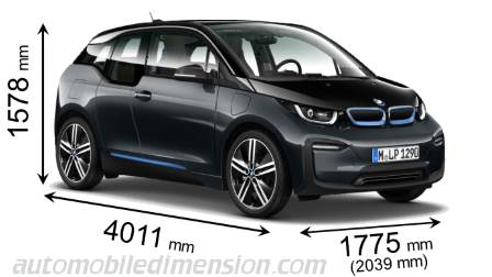 BMW i3 dimensies en mm