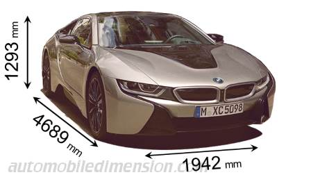 BMW i8 Coupé afmetingen
