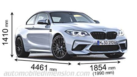 BMW M2 Competition dimensies en mm