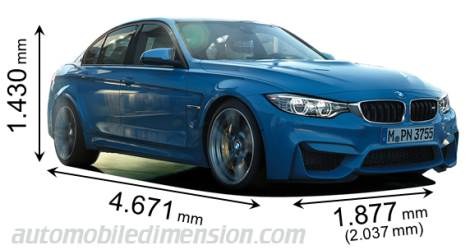 BMW M3 Berline cotes en mm
