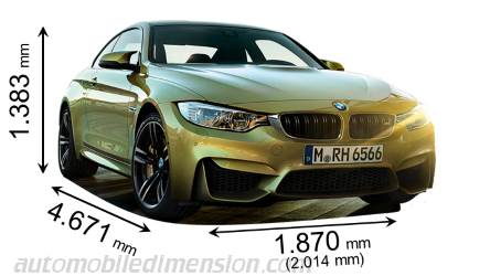 BMW M4 Coupé dimensions