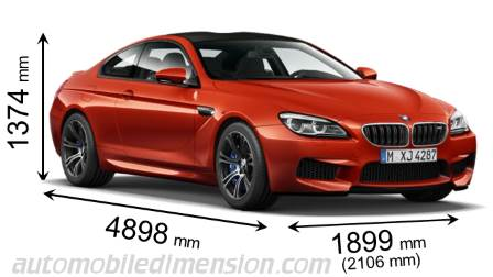 BMW M6 Coupé dimensions