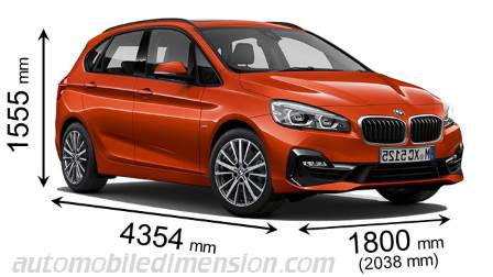 BMW 2 Serie Active Tourer maat