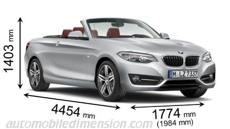 BMW 2 Series Convertible dimensions