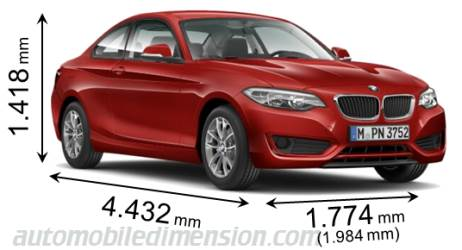 Dimensioni BMW 2 Coupe 2014