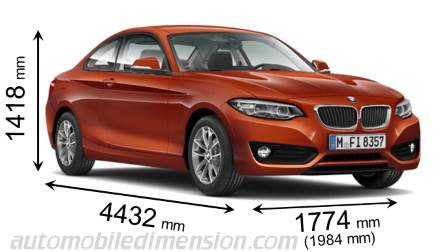 Dimensioni BMW 2 Coupe 2017