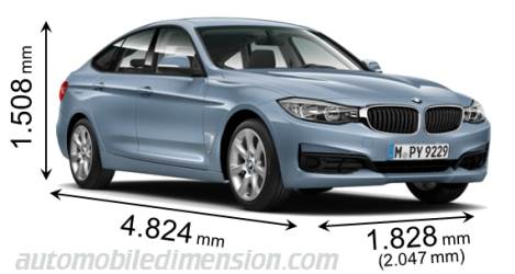 dimensions bmw 3 gran turismo 2013 coffre et int rieur. Black Bedroom Furniture Sets. Home Design Ideas