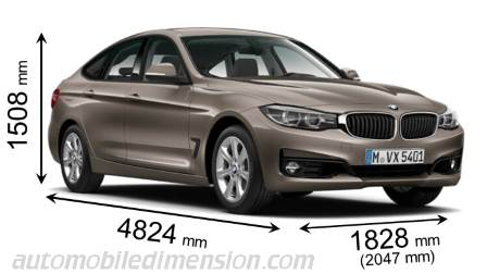 dimensions bmw 3 gran turismo 2016 coffre et int rieur. Black Bedroom Furniture Sets. Home Design Ideas