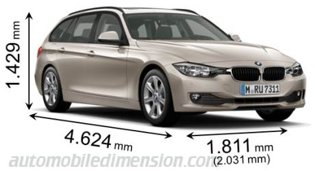 Dimension BMW 3 Touring 2012