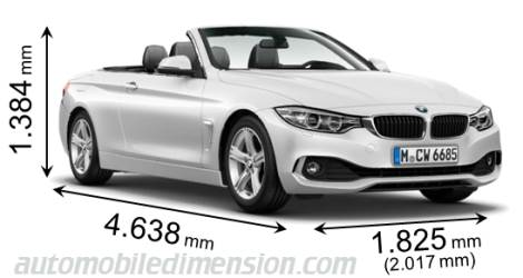 bmw 4 cabrio 2014 dimensions boot space and interior. Black Bedroom Furniture Sets. Home Design Ideas