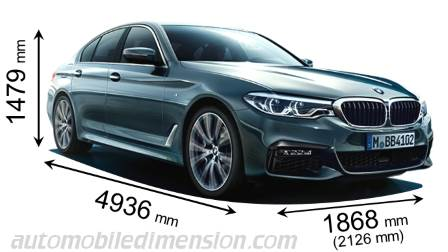 BMW 5 Serie Saloon dimensies en mm