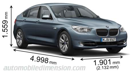 Dimension BMW 5 Gran Turismo 2010