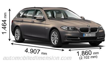 dimensioni bmw 5 touring 2013 bagagliaio e interni. Black Bedroom Furniture Sets. Home Design Ideas