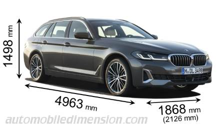 BMW 5 Series Touring dimensions
