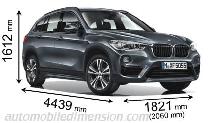 BMW X1 dimensies en mm