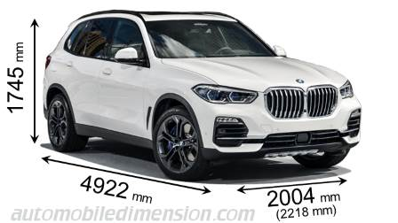 BMW X5 dimensies en mm