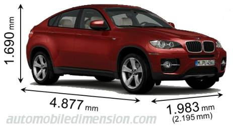 Dimension BMW X6 2010