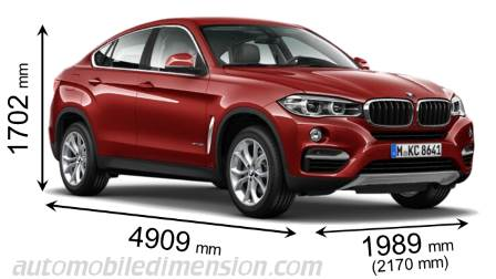 BMW X6 dimensies en mm