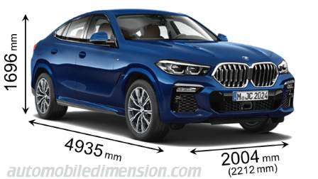 Dimension BMW X6 2020