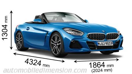 BMW Z4 dimensies en mm