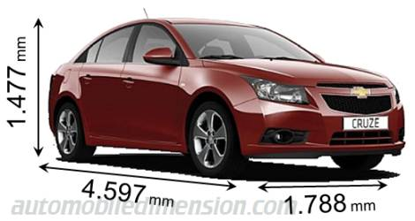 Chevy cruze dimensions