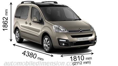 citroen berlingo multispace 2015 dimensions boot space and interior. Black Bedroom Furniture Sets. Home Design Ideas