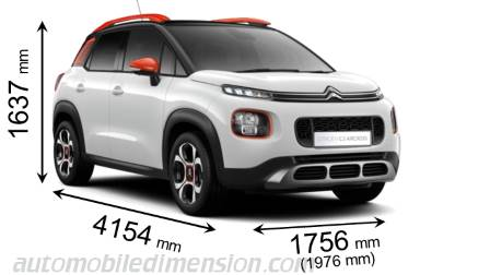 citroen c3 aircross 2018 dimensions boot space and interior. Black Bedroom Furniture Sets. Home Design Ideas