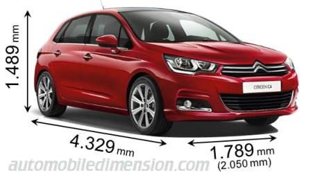 Dimension Citroen C4 2015