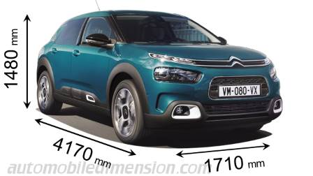 dimensions citroen c4 cactus 2018 coffre et int rieur. Black Bedroom Furniture Sets. Home Design Ideas