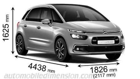 dimension c4 picasso citroen c4 grand picasso dimensions citroen c4 picasso interior. Black Bedroom Furniture Sets. Home Design Ideas