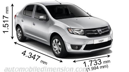 dimensions of dacia cars showing length width and height. Black Bedroom Furniture Sets. Home Design Ideas