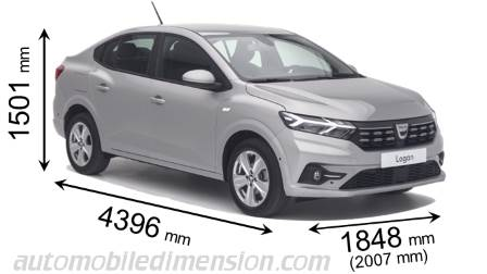 Dimension Dacia Logan 2021