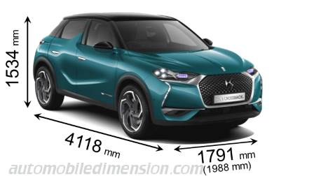 DS DS3 Crossback dimensions