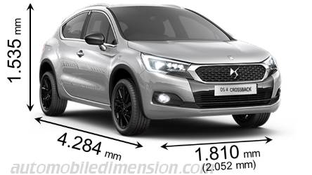 DS DS4 Crossback dimensions