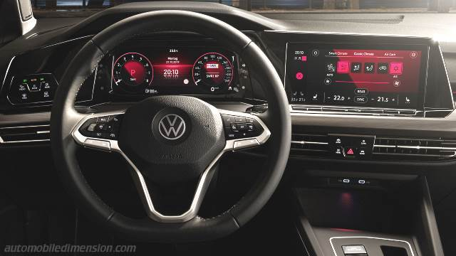 volkswagen golf 2020 dimensions  boot space and interior