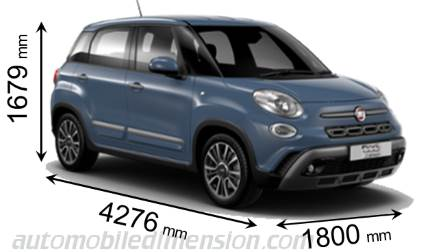 fiat 500l cross 2017 dimensions boot space and interior. Black Bedroom Furniture Sets. Home Design Ideas