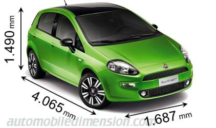 Fiat Punto measures in mm