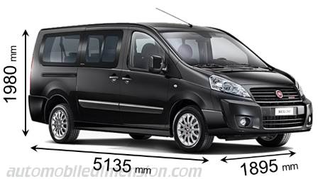fiat scudo combi lg 2012 dimensions boot space and interior. Black Bedroom Furniture Sets. Home Design Ideas