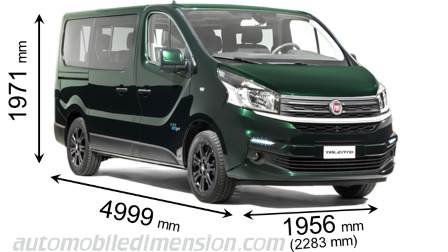 Fiat Talento Combi measures in mm