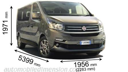 Fiat Talento Combi lg 2016 dimensions with length, width and height