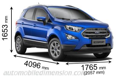 dimension ford ecosport ssangyong tivoli lock horns with ford ecosport carbay ford ecosport. Black Bedroom Furniture Sets. Home Design Ideas